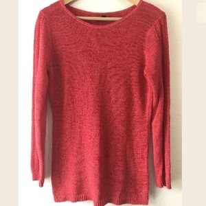 Rachel Zoe Coral Pink Knit Sweater Top Size Med